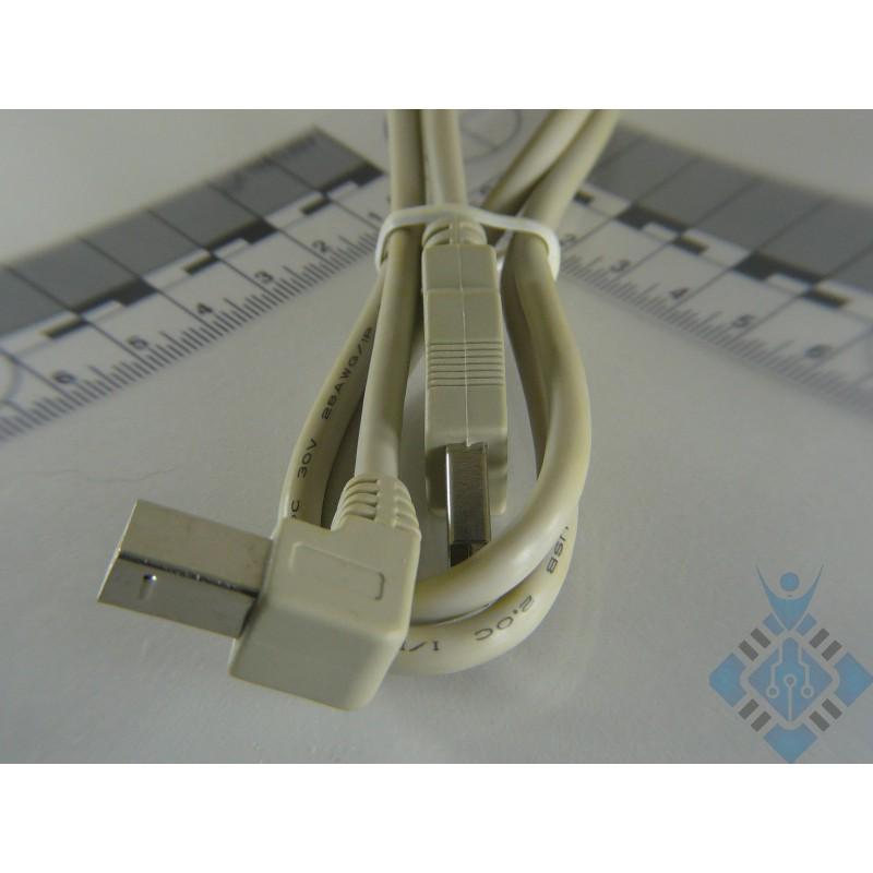 USB A-B haakse aansluiting