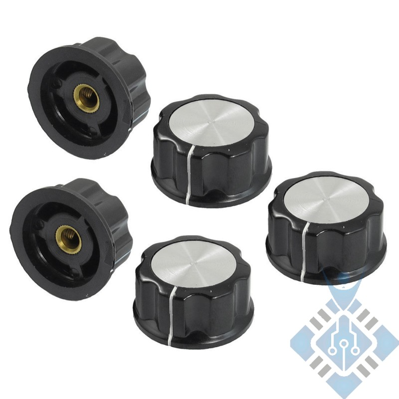 30mm, 6mm Potentiometer Rotary Knobs