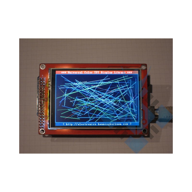 """3.5"""" TFT LCD Shield Touch Panel Display w TF Reader"""