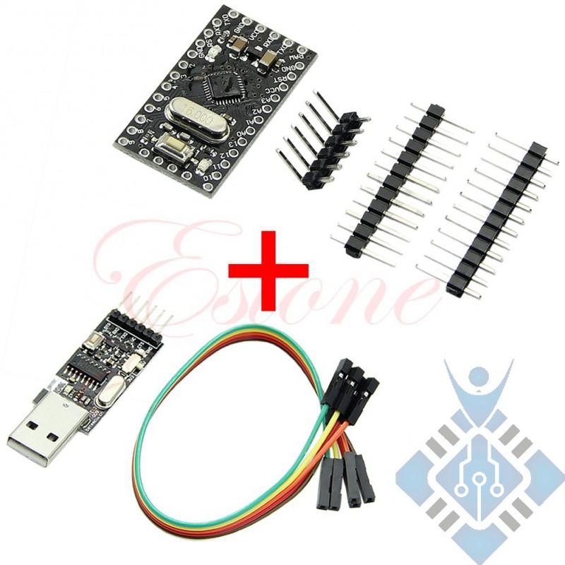 Pro Mini Atmega328 5V 16M + USB2.0 To TTL 6Pin CH340G Converter